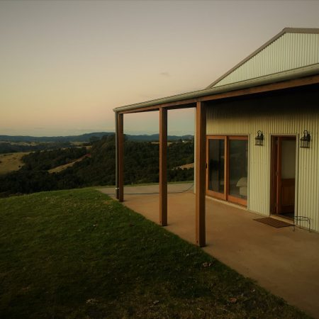 front of house on a hill